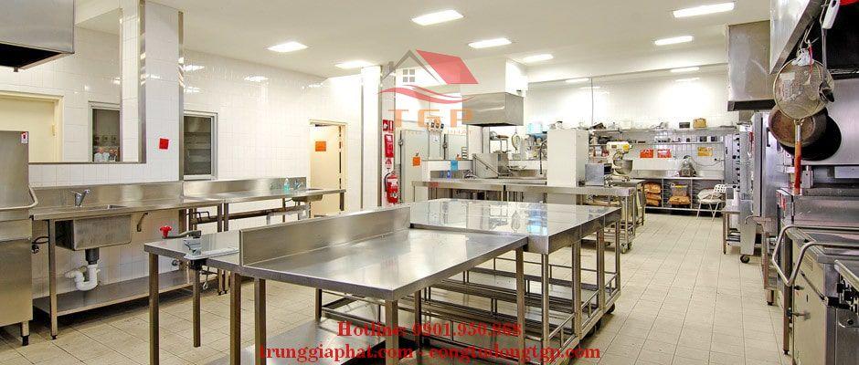 Thi công bếp inox trường học đà nẵng